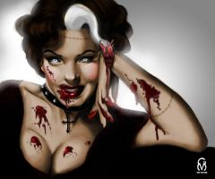 Marilyn Monroe Zombie by Miss-Von-Gore