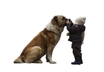 Dog and Kid PNG by WoozieTM
