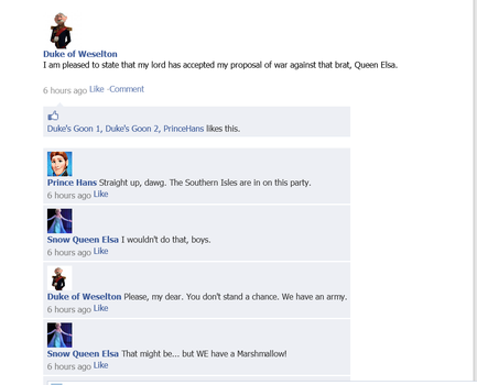 We have a Marshmallow Frozen Facebook by ZhaneAugustine