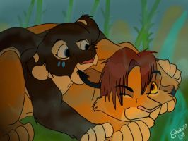 siimba and bamboo by suti-cub
