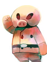 Pigmask by sweating