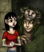 Pan and the faun  -Labyrinth- by AuldBlue