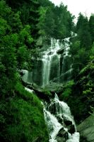 waterfall forest by foto-graf-hi