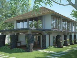 day scene,depok residence by outboxdesign