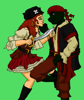 Cosplay 1: Raph and Kimi by Donnysgirl