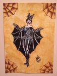 Halloween Bat Girl by Vicki-Death