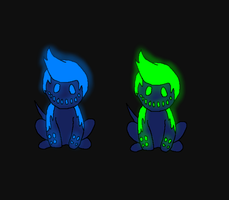 fungies- glowing ones by PoltergeistForever