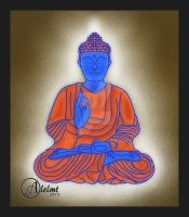 Mind peace Buddha by aloz0810