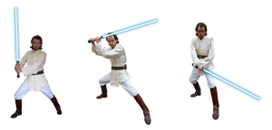 Obi-Wan Kenobi capeless stances by Skull-the-Kid