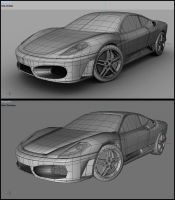 Ferrari F430 Wireframe by Tom-3D