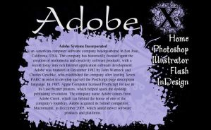 SP: Adobe web page by EdElricsGirl