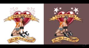 T-Shirt Pin-Up and Logo by mavartworx