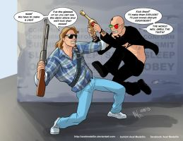 TLIID 253. Roddy Piper vs Spider Jerusalem by AxelMedellin