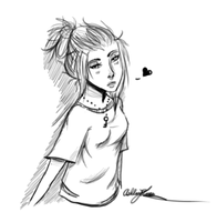 [Sketch]: Messy Hair by XxLuna98xX