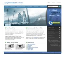 Church Web Layout by dellustrations