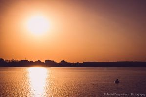 Fisherman at Sunset by DrAndrei