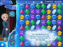 I owned Disney Frozen Free Fall mobile game app by Magic-Kristina-KW