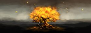 Flaming Ethereal Tree by Corey-H