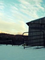 barn and sky by kaylalphotography