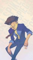 Art Jam Apr '10: Spike Spiegel by tsubibo