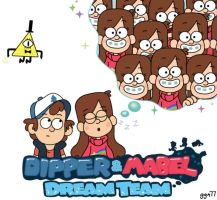 Dipper and Mabel: Dream Team by geegeeman77