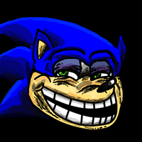 Sonic troll face by theblueblur242