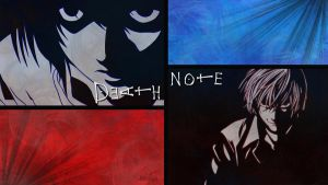 Death Note - Light Yagami/ Kira and L Wallpaper by Cassaria