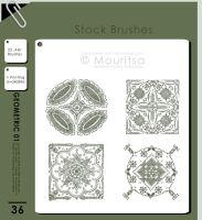 Brush Pack - Geometric 01 by MouritsaDA-Stock