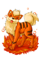 Growlithe by panicYoYo