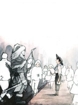 glimpse of a shadow from the past ILLUSTRATION by Farbenfrei