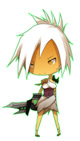 Chibi Riven by DarkHatBoy