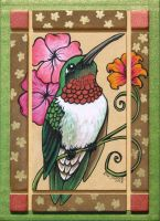 Ruby-Throated Hummingbird by XianJaguar