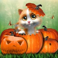 Sweet Kitten Halloween by tinca2