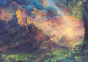 The Valley of Memories - Speedpainting by Fany001