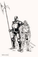 Dark Souls 3: Anri and Horace (lines) by MenasLG