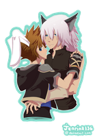 Gift : Bunny and Wolf by jenrina136
