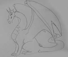 Dragon Sketch by DragonwolfRooke