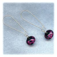Purple Baubles Earrings by kittenspawn