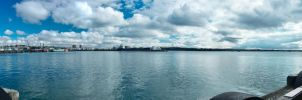 Auckland Harbour panorama by MisterDedication