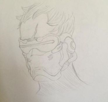 Soldier:76 doodle by Weeb-Draws