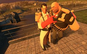Heavy and Medic Gangsters by ksam84