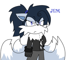 Jem the Arctic fox by PinkbloodsDominate