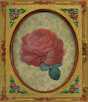 Framed rose die cut by jinifur
