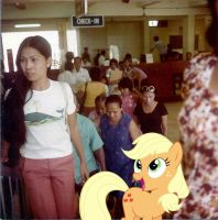 At The Airport Check-in by RicRobinCagnaan