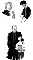 Kevin + Crowley Doodles by feyuca