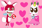 Chip and Ribbon in Love by NyanSonia