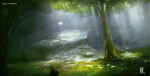 IPAD 2 Painting The Forest by RaZuMinc