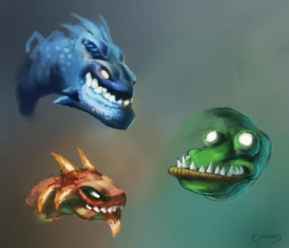 Dragon heads by BEN-BEN-BEN