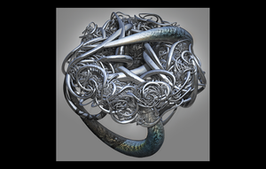SNAKEPIT RING by bo-dion
