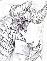 Archon of Hell - close up drawing by winddragon24